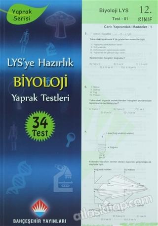 LYS'YE HAZIRLIK 12. SINIF BİYOLOJİ YAPRAK TESTLERİ (  )