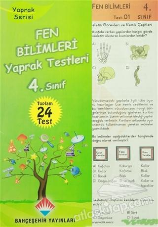 4. SINIF FEN BİLİMLERİ YAPRAK TESTLERİ (  )