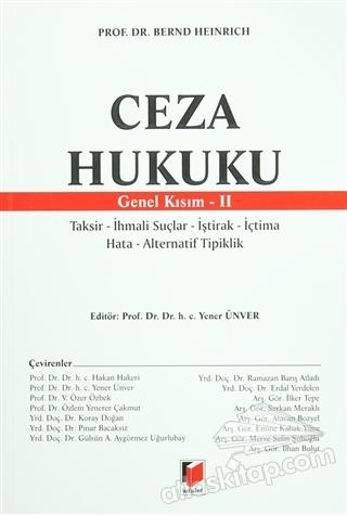 CEZA HUKUKU - GENEL KISIM 2 (  )